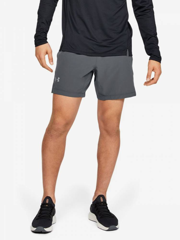 Under Armour Kraťasy Under Armour Speedpocket Linerless 7'' Short-Gry Šedá