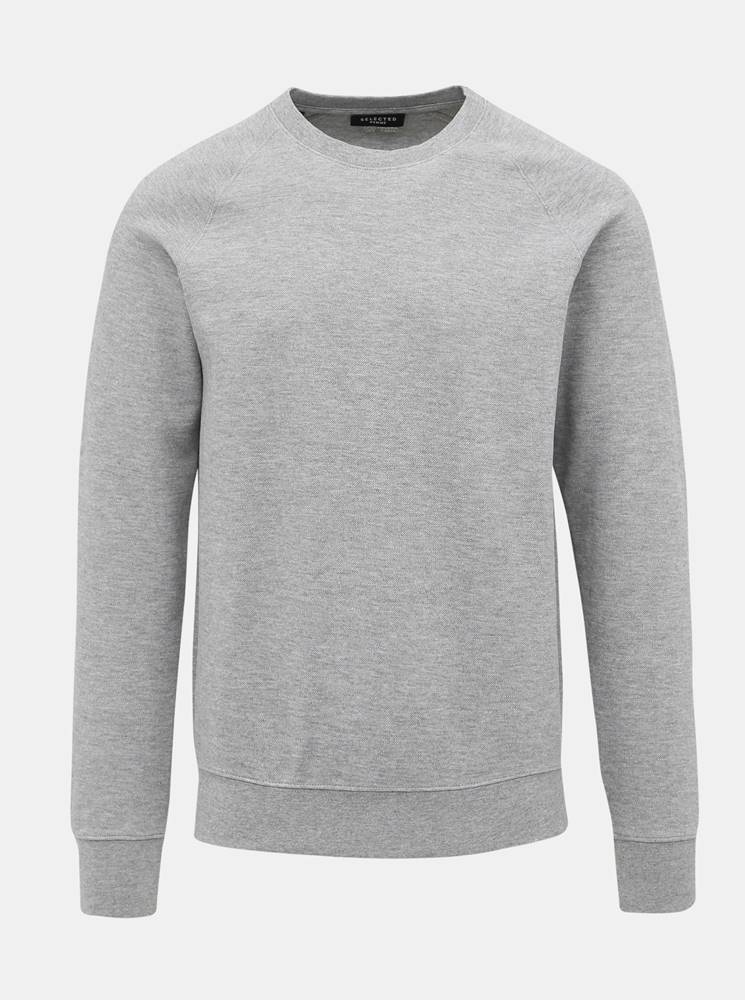 Selected Homme Šedá basic mikina Selected Homme Rami